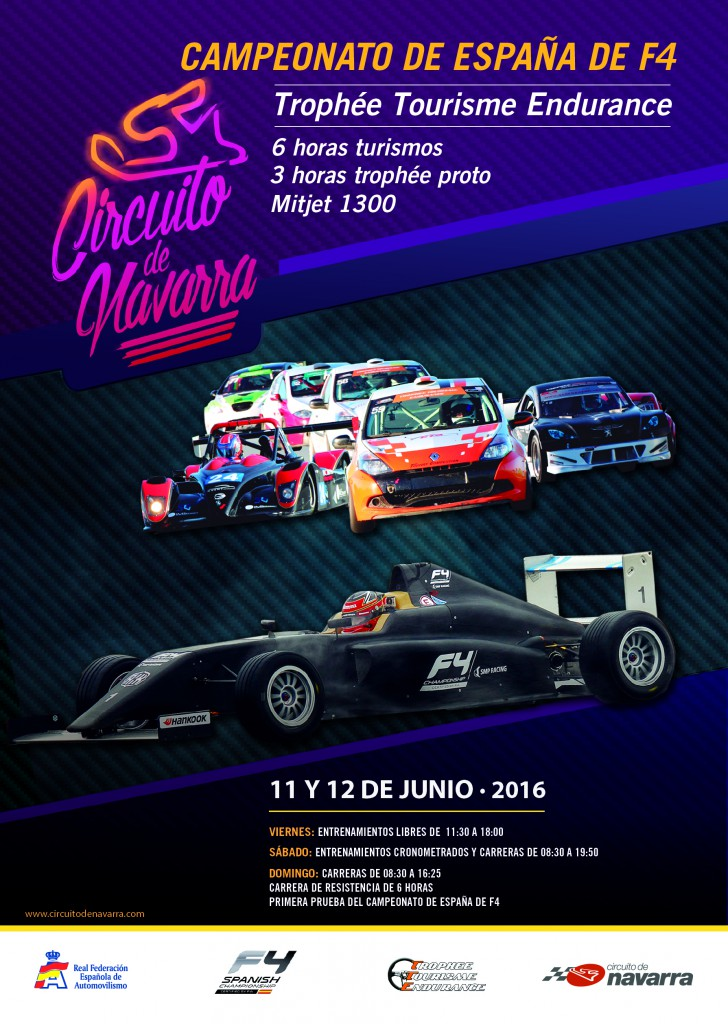 CARTEL TROPHEE ENDURANCE + F4 11 Y 12 JUN 2016